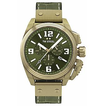 TW Steel Canteen Bronze PVD Plated Green Dial TW1015 Watch