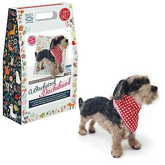 Wirehaired Dachsund Needle Felting Kit For Improvers