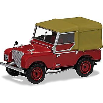 Corgi Land Rover-serien 1 80 tums poppy röd diecast-modell