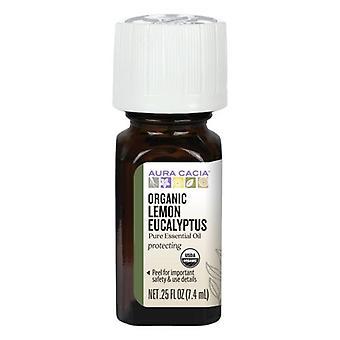 Aura Cacia Organic Essential Oil, Lemon Eucalyptus 0.25 Oz
