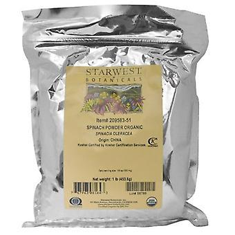 Starwest Botanicals Organic Spinach Powder, 1 lb