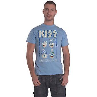 KISS T Shirt Made For Lovin Band Logo new Official Mens Blue