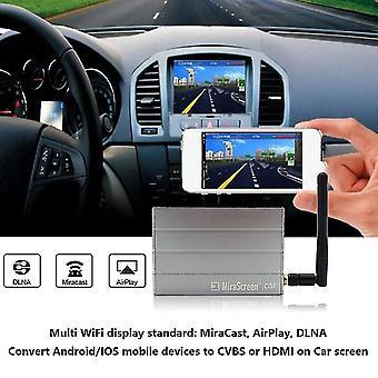 Aluminium legering auto multimedia display dongle spiegel doos voor ios voor Android