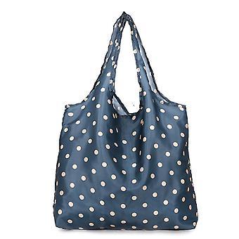 Indkøbspose Miljøvenlig Taske Foldbar Supermarked Købmand Taske Vasket Oxford Cloth Portable