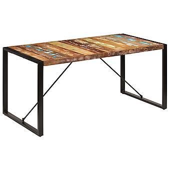 """שולחן אוכל vidaXL 160x80x75 ס""""מ עץ ס""""מ ממוחזר מוצק"""