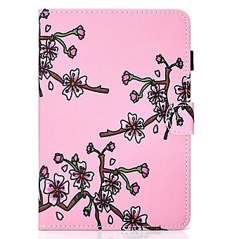 Case For Ipad 9 10.2 2021 Cover With Auto Sleep/wake Pattern Magnetic - Plum Flower