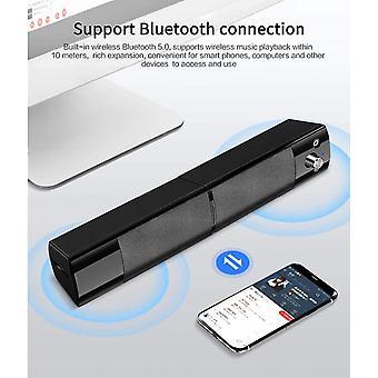 Surround Stereo Soundbar Subwoofer Bluetooth 5.0(Black)