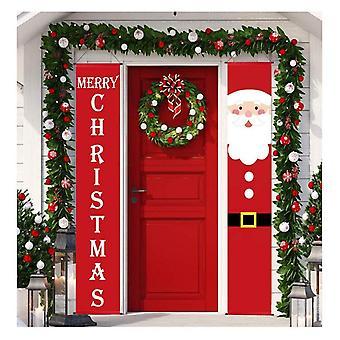 (24) Feliz Natal Festa santa pendurado Banner Garden Banners Decoração porta