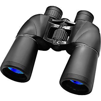 10x50 ďalekohľad pre dospelých, profesionálny vodotesný a protihmlievačový HD ďalekohľad, odolný a číry hranol FMC BAK4, vhodný na pozorovanie vtákov, cestovanie a lov(čierna)