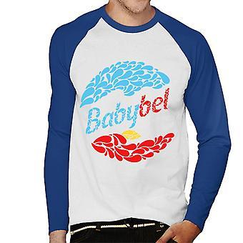 Baby Bel Blå och Röda Droppar Herr Baseball Långärmad T-Shirt