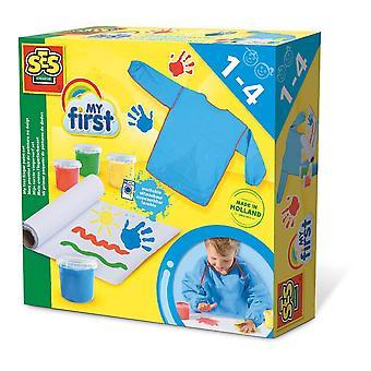 Ensemble de peinture à doigts lavable pour enfants My First, 4 pots de peinture