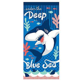 Country Club Microfibre Beach Towel, Shark