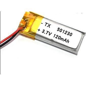 3.7v 120mah 501230 lithium polymeer oplaadbare batterij