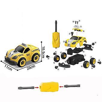 Children's afneembare DIY taxi speelgoed