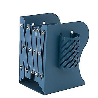 Telescopic Folding Bookshelf Desktop Storage Stationery For Students(Blue)