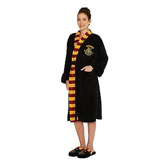 Womens Harry Potter Hogwarts Crest Adult Dressing Gown - One Size
