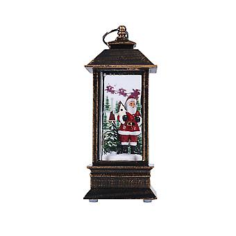 Christmas Lantern Santa Claus Lantern Xmas Decoration Home Decor Holiday Party Table Desk Tree
