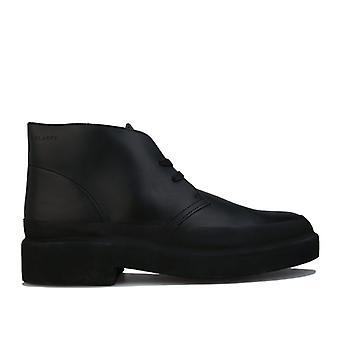 Herren Clarks Originals Desert Galosh Boots in Schwarz