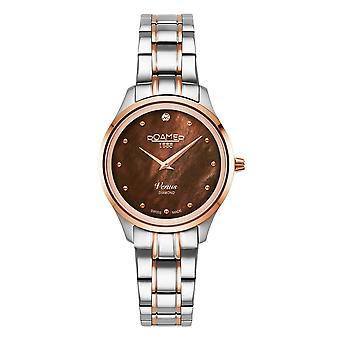 Roamer 601857 49 79 20 Women's Venus Diamond Two Tone Steel Bracelet Wristwatch