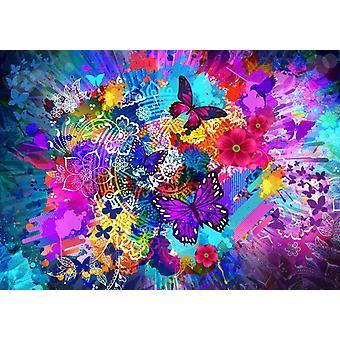 Bluebird Flowers and Butterflies Jigsaw Puzzle (1000 Pieces)