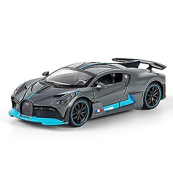Toy cars 1/32 alloy bugatti supercar model toy die casting model christmas gift children's toy car gray