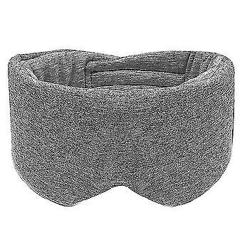 Snoring sleep apnea aids unisex cotton blackout eye mask oversized eyeshade adjustable sleeping blindfold 68ud gray