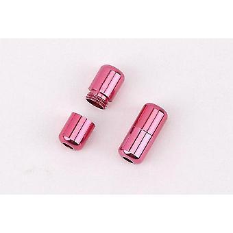 2 Stück moderne Aluminium-Schnürsenkelschnallen (Rose Red)