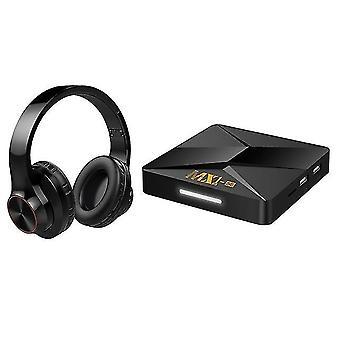 Vezeték nélküli binaurális bluetooth headset mx1-se tv box rk3228a android 9.0 hálózati lejátszó 1gb +8gb