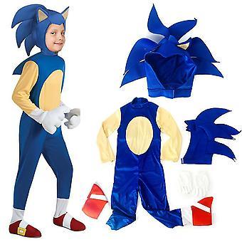 Hedgehog Sonic Jumpsuit Cosplay Costume Déguisement Tenue Vêtements