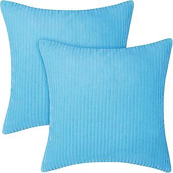 Vakosametti Tyynynpäällinen Neliötyynyliina Sametti tuolin koristeluun Sininen 45 x 45 cm sarja 2