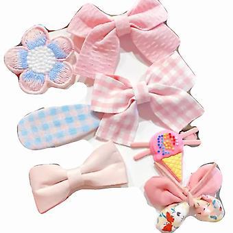 Detské ružové luky vlások 7ks