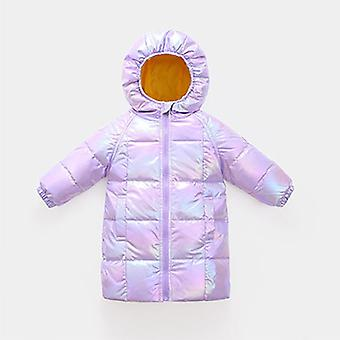 Violet Winter Children's Clothing Long Children's Down Jacket Warm Cotton Jacket