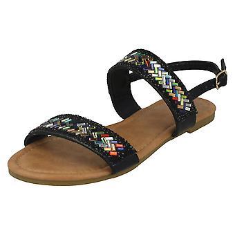Ladies Anne Michelle Double Strap Mule Sandals F00058