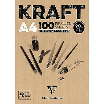Clairefontaine Brown Kraft Pad 100 Sheets 90g | Sizes Listed
