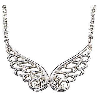 925 Silver Plated Rhodium Angel Wings Trend Necklace