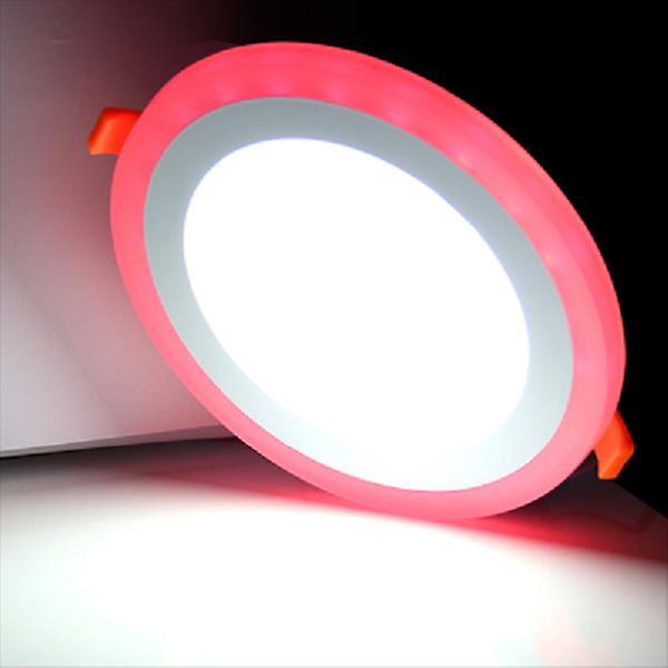 I LumoS Dual Colour LED 9 Watt Round Recessed Ceiling DownLight with Red Light