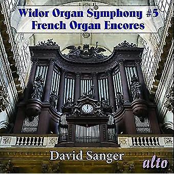 David Sanger (Organ) - Widor: Organ Symphony No. 5 Excerpts Sy [CD] USA import