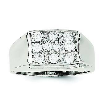 925 Gümüş Katı Cilalı Açık arka Mens CZ Kübik Zirkonya Erkekler için Simüle Elmas Yüzük Takı Hediyeler - Yüzük