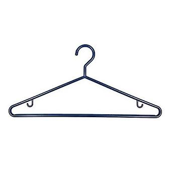 1x3 Navy Plastic Hangers 43cm made in UK for Caraselle