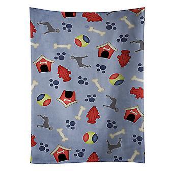 Ręcznik kuchenny Blue Dog naturalny pies dom kolekcji