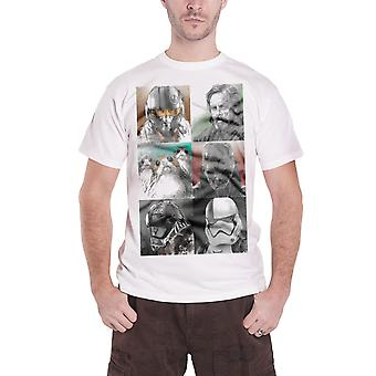 Star Wars T Shirt Characters Luke Porgs new Official Mens White The Last Jedi
