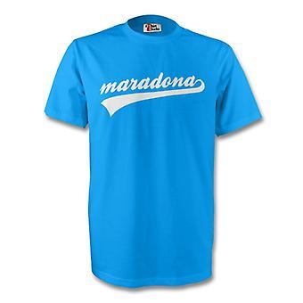 Diego Maradona Argentina assinatura Tee (céu azul)