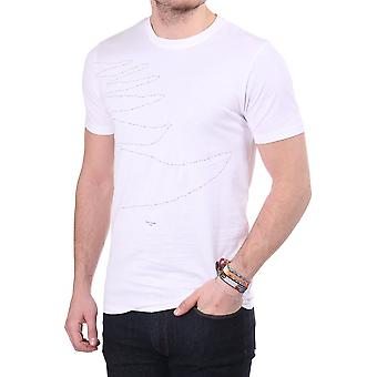 Paul Smith Jeans Ss Cn Tee With Print On Front