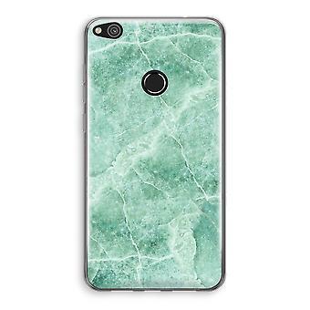 Huawei Ascend P8 Lite (2017) Transparant fall (Soft) - grön marmor