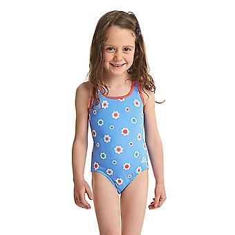 ZOGGS Girls Holiday Actionback Swimsuit - Blue/Multi