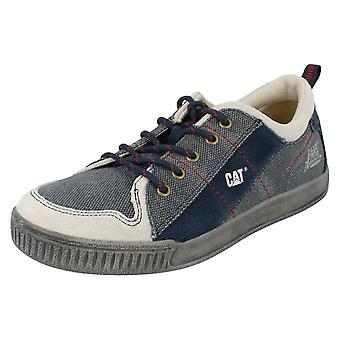 Ladies Caterpillar Lace Up Casual Trainers Dex