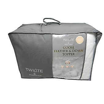 Twilite Goose Feather And Down Mattress Topper Single