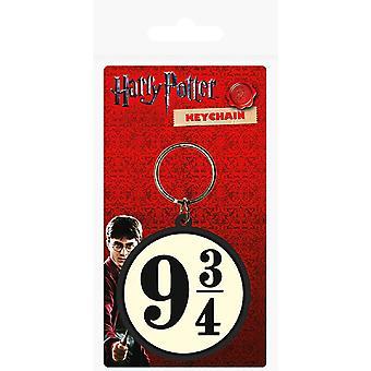 Harry Potter Official 9 3/4 Rubber Keyring