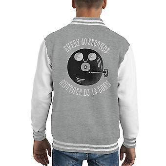 Every Sixty Seconds A DJ Is Born Kid's Varsity Jacket