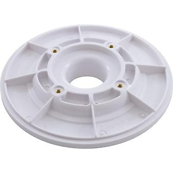 "Aquastar 615T101 6"" Sumpless Bulkhead 1.5"" MPT Wall Fitting - White"
